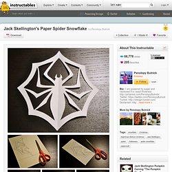Jack's Paper Spider Snowflake