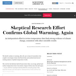 Skeptical Research Effort Confirms Global Warming, Again