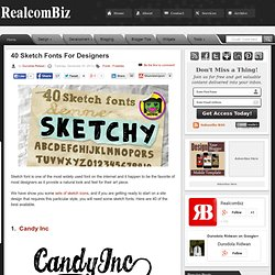 40 Sketch Fonts For Designers