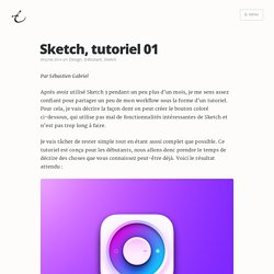 Sketch, tutoriel 01