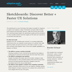 Sketchboards: Discover Better + Faster UX Solutions