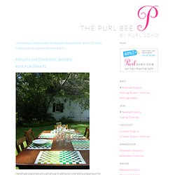 Woven Felt Place Mats - the purl bee