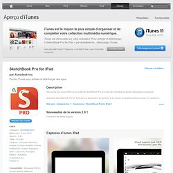 SketchBook Pro for iPad pour iPad sur l'iTunes App Store