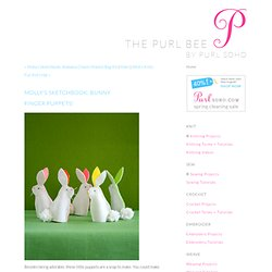 Bunny FingerPuppets! - Knitting Crochet Sewing Crafts Patterns and Ideas!