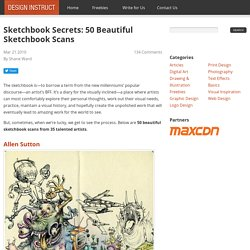 Sketchbook Secrets: 50 Beautiful Sketchbook Scans - StumbleUpon