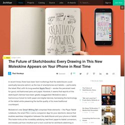 The Future of Sketchbooks: Every Drawing in This New Moleskine Appears on Your iPhone in Real Time