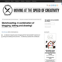 Sketchcasting: A combination of blogging, talking and drawing!