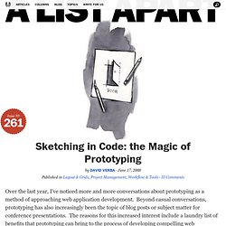 Sketching in Code: the Magic of Prototyping