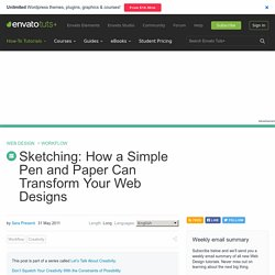 Sketching: How a Simple Pen and Paper Can Transform Your Web Designs