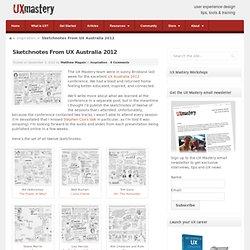 Sketchnotes From UX Australia 2012