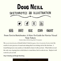 From Text to Sketchnotes: A How-To Guide for Novice Visual Note Takers