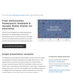 Free sketchnotes Powerpoint template & Google Slides theme for education