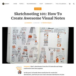 Sketchnoting 101: How To Create Awesome Visual Notes - UX Mastery