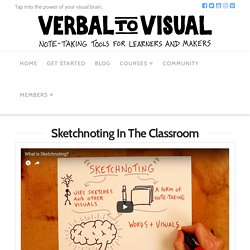 Sketchnoting In The Classroom - Verbal To Visual