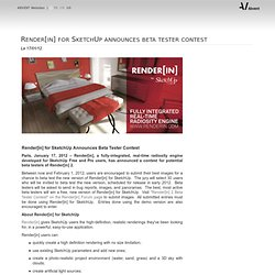 Render[in] for SketchUp announces beta tester contest