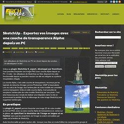 Exportez vos images avec une couche de transparence Alpha depuis un PC