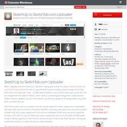to Sketchfab.com Uploader