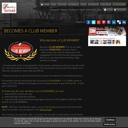Sketchuptexture - Become a Club member