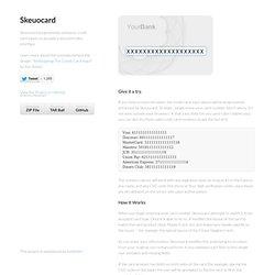 Skeuocard by kenkeiter