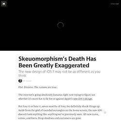 Skeuomorphism's Death Has Been Greatly Exaggerated — Geek Empire