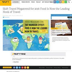 Skift Travel Megatrend for 2016: Food Is Now the Leading Hook of Travel – Skift