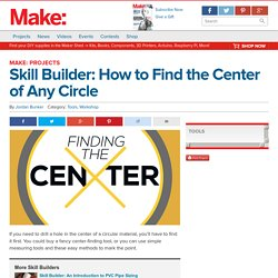 Skill Builder: How to Find the Center of Any Circle