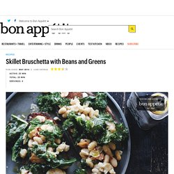 Skillet Bruschetta with Beans and Greens Recipe