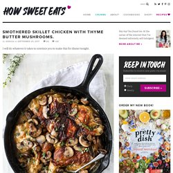 Skillet Chicken and Mushrooms - Smothered Chicken with Mushrooms