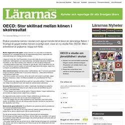OECD: Stor skillnad mellan könen i skolresultat