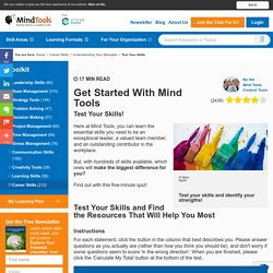 Test Your Skills - Career Development Skills from MindTools.com