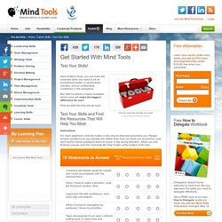 Get Started with Mind Tools - Career Skills from MindTools