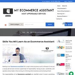 Benefits of E-commerce Assistant Skills