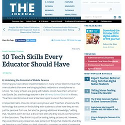 10 Tech Skills Every Educator Should Have
