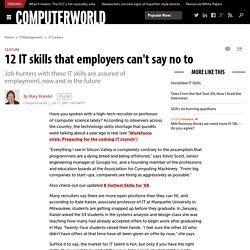 12 IT skills that employers can't say no to