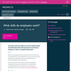 What skills do employers want?