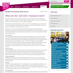 What are the 'soft skills' employers want?