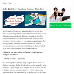Skills That Every Brochure Designer Must Have