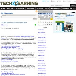 - 10 Tech Skills Every Student Should Have