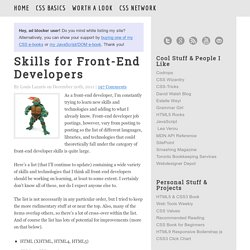 Skills for Front-End Developers