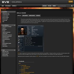 Skills guide - EVElopedia - The EVE Online Wiki