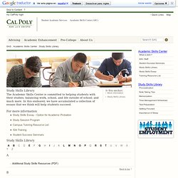Study Skills Library - Academic Skills Center - Cal Poly