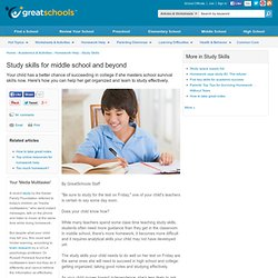 Study skills for middle school and beyond - Study Skills