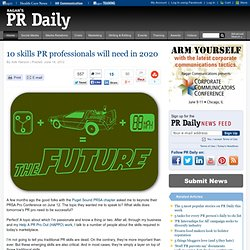 10 skills PR professionals will need in 2020
