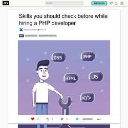 Skills you should check before while hiring a PHP developer