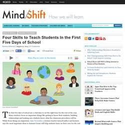Four Skills to Teach Students In the First Five Days of School