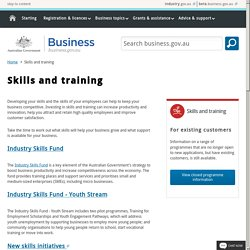 Skills and training