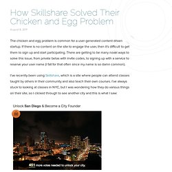 How Skillshare Solved Their Chicken and Egg Problem