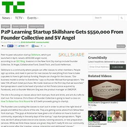 P2P Learning Startup Skillshare Gets $550,000 From Founder Collective and SV Angel