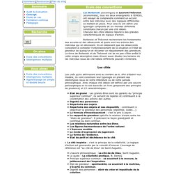 [Skillway] Ecole des conventions