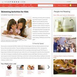 Skimming Activities for Kids